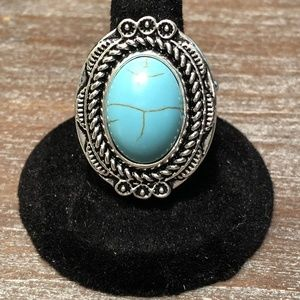 Tumblin Tumbleweeds - Blue Stretchy Ring